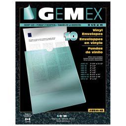 "Gemex Vinyl Pockets 8-1/2"" X 11"""
