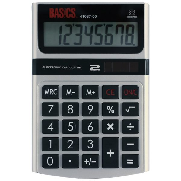 Basics 8-Digit Dual Power Desktop Calculator