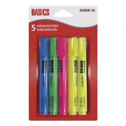 Basics Highlighter Assorted Colours