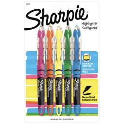 Sharpie Liquid Highlighter. Assorted. 5/set