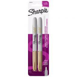Sharpie Fine Permanent Marker. Metallic Gold. 2/pkg