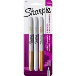 SharpieMetallic Fine Point Permanent Markers. 3/pkg