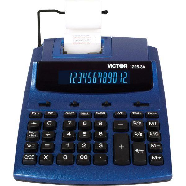 12 Digital. Commercial printing calculator. Metllic blue.