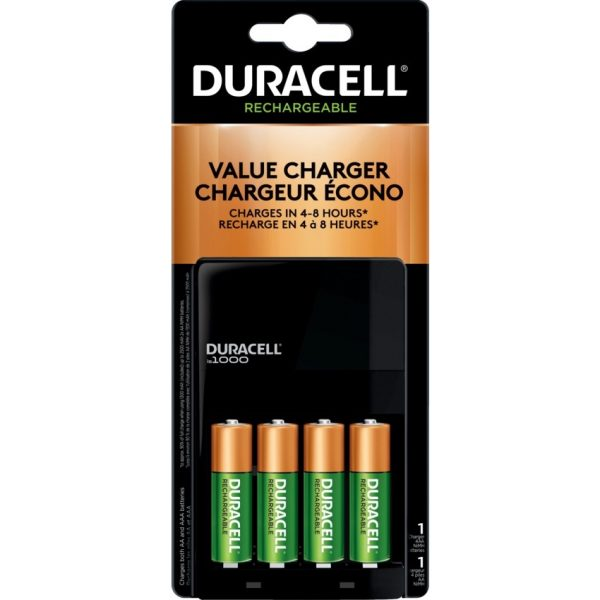 """Duracell® Value Charger With 4 """"AA"""" Battery"""