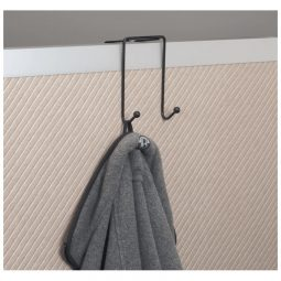 Westcott Partition And Wall Coat Hooks Two Hooks Black