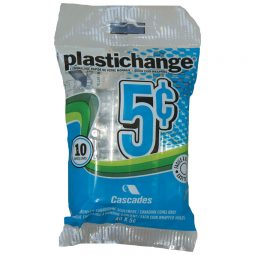 Plastichange Coin Wrappers 5¢