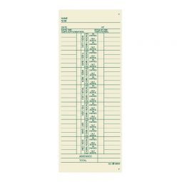 3 1/2' x 9' Time Cards Bilingual