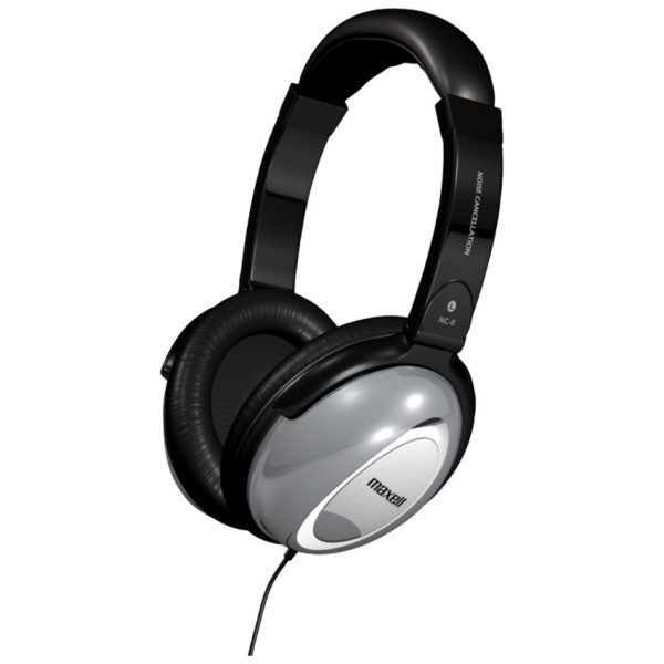 Maxell Noise Cancellation Headphones With Travel Pouch