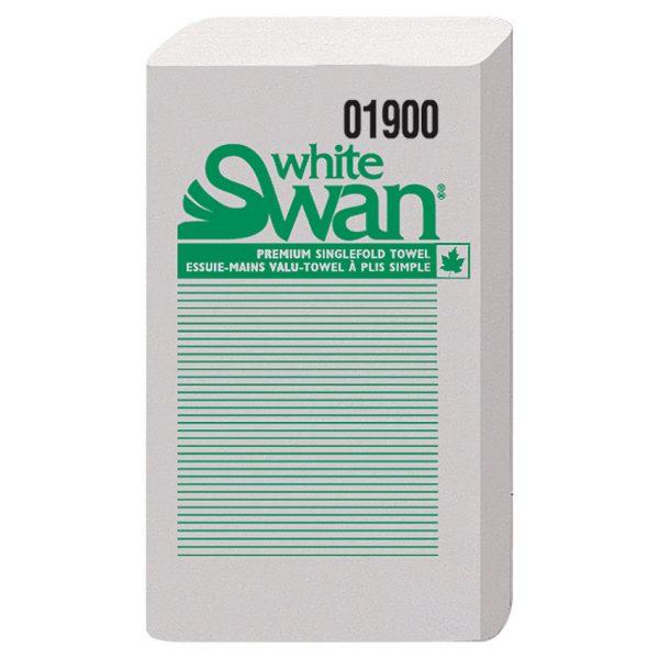 White Swan Single Foldtowel