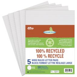 Hilroy Enviro-Plus 100% Recycled Writing Pads Letter