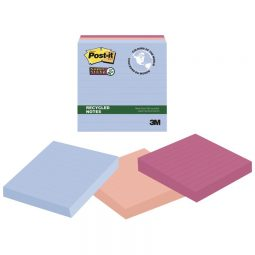 """Post-It Super Sticky Recycled Notes 4"""" X 4"""""""