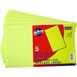 """Fig Pad Ruled 8-1/2"""" X 14"""" Yellow"""