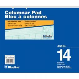 """Columnar Pad 16-1/2"""" X 14"""" 50 Pages 14 Columns"""