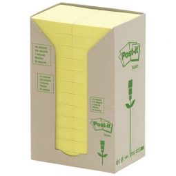 """Post-It Recycled Note Tower 1-1/2"""" X 2"""" Yellow"""