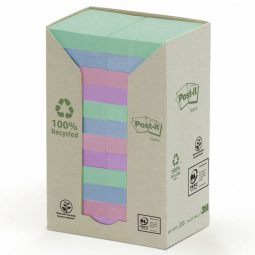 """Post-It Recycled Note Tower 1-1/2"""" X 2"""" Assorted"""