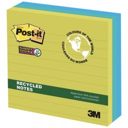 Post-it Super Sticky Recycled Notes