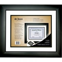 St- James Paper Company Awards and Recognition Double Mat Frame