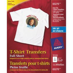 Avery Personal Creations T-Shirt Transfer Sheets