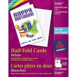 Avery Personal Creations Half-Fold Greeting Cards 8-1/2' X 5-1/2'