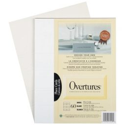 St. James Paper Company Overtures Place Cards Ivory