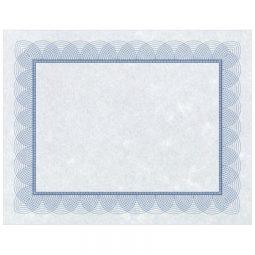 """St. James Paper Company Regent Certificates 8-1/2 X 11"""" Blue"""