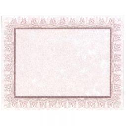 "St. James Paper Company Regent Certificates 8-1/2 X 11"" Red"
