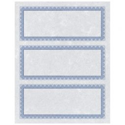 St. James Paper Company Regent Gift Certificates Blue