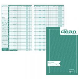 Dean Payroll Book 16 Employees. English