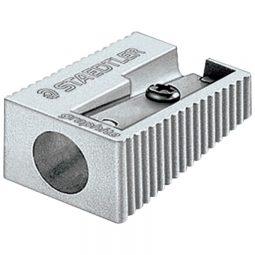 Staedtler Aluminum Pencil Sharpener Single Hole 4/pkg