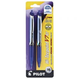 Pilot Hi-Tecpoint Retractable Roller Pen. Blue. 2/pkg
