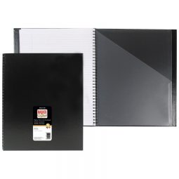 """Basics Classic Coil Notebook 11 x 8-1/2"""" 192 Pages Black"""