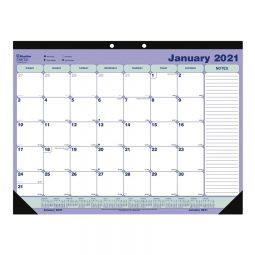 "Blueline® 2021 Monthly Desk Pad Calendar- 21-1/4"" x 16"""