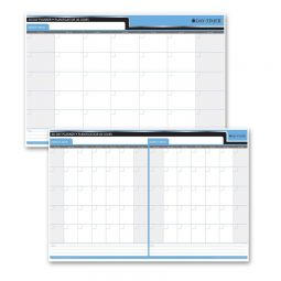 """Day-Timer Double-Sided Flexible Planner 30/60 Days 24"""" X 36"""" Bilingual"""