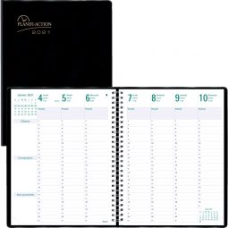 Blueline® Planifi-Action® 2021 Weekly Planner- 7 Days