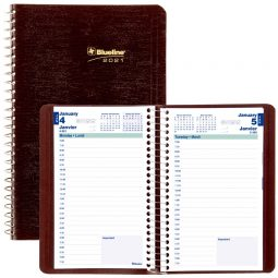 Blueline® 2021 Daily Planner Spiral binding