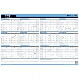 """2021 Day-Timer® Seasonal Planning Calendar 24 x 36"""" Bilingual"""