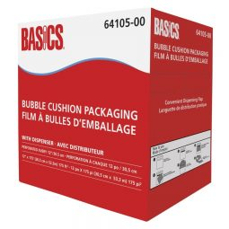 """Basics Bubble Cushion Packaging With Dispenser 3/16"""" Thick"""