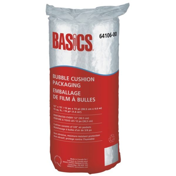 "Basics Bubble Cushion Packaging 3/8"" Bubbles"