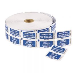 Admit Tickets Double Roll Blue Bilingual Roll of 1000