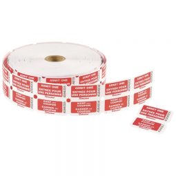 Admit Tickets Double Roll Red Bilingual Roll of 1000