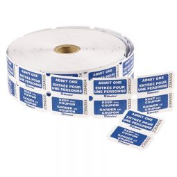 Admit Ticket Double Blue bilingual Roll of 2000