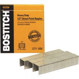 """Stanley Bostitch Heavy Duty Staples 1/2"""" Box of 1000"""
