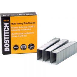 """Bostitch Heavy Duty Staples 15/16"""" Box of 1000"""