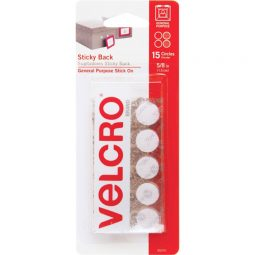 """Velcro Sticky Back Fasteners 5/8"""" Coins Pkg of 15"""
