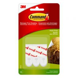 3M Command Poster Strips Pkg of 12