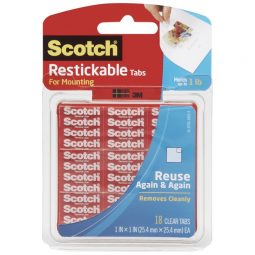 Scotch Reusable Mounting Tabs Pkg of 18