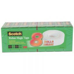 Tape Refill Magic 25.4m Clear 8/pkg