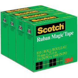 Tape Refill Magic 25.4m Clear 4/pkg