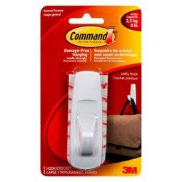 Command Adhesive Large Mounting Hook 5lb Capacity