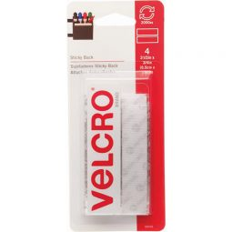 "Velcro Sticky Back Fasteners 3/4"" X 4"" Strips Pkg of 4"